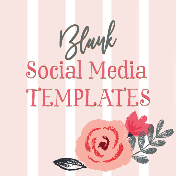 Lovely pink, floral blank social media templates
