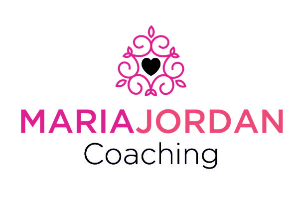 This pink, purple, and peach logo with a symbol and a heart is in a done for you branding package