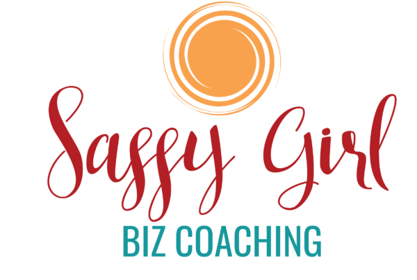 Red, teal, and orange predesigned sassy girl logo.