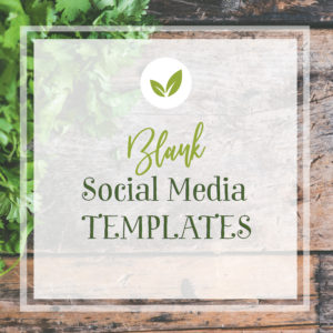 5 pre-designed social square templates for Instagram or Facebook for a chef
