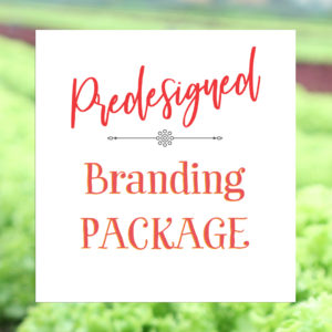 This premade branding package is professional graphic design for the chef that wants an organic brand. Style guide, logo, and mood board included.