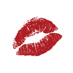 Fun and decorative red lips graphic embellishments liven up your project, use this clipart to liven up your website or brand!