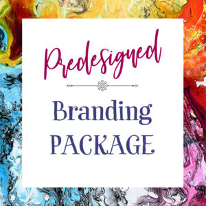 Logo package that includes branding items such as logo, brand board, style guide, font selections, color selections, and more!