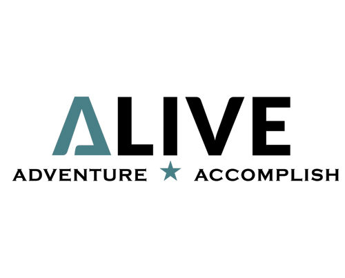 Alive graphic design logo